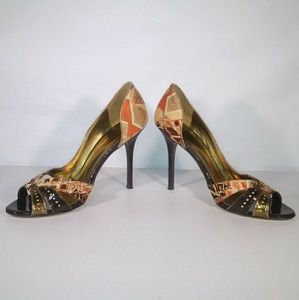 Guess Shoes - Guess Open Toe D'Orsay Heel Pumps Size 9 M